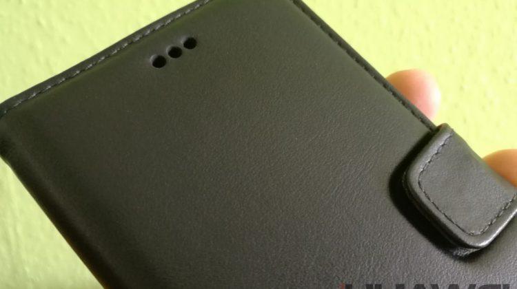 Noreve Huawei P9 kézzel varrott bőr flip tok