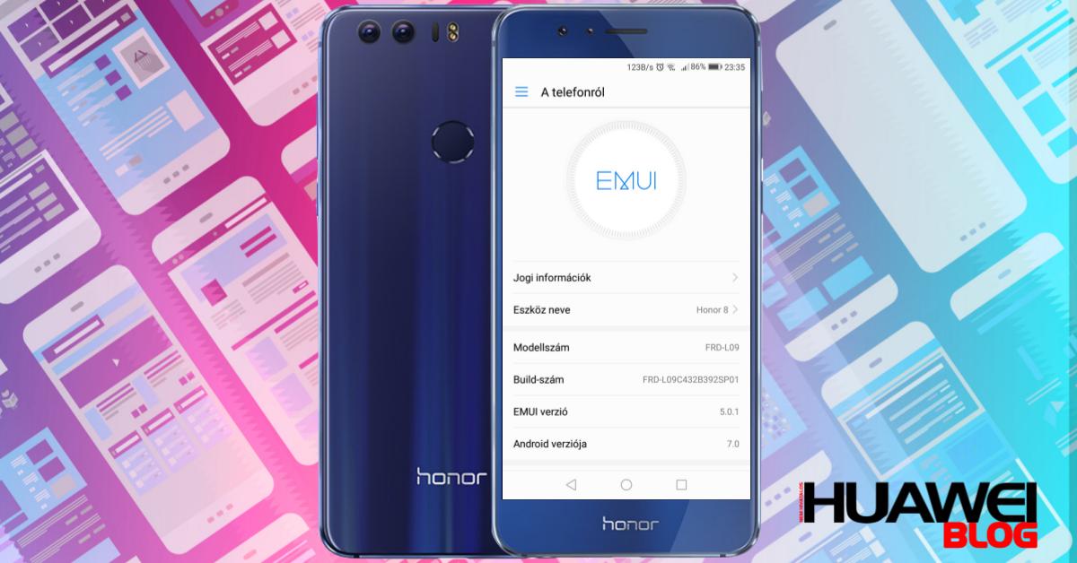Honor 8 B392-es frissítés