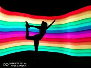 Huawei P30 Lite fényfestés funkció