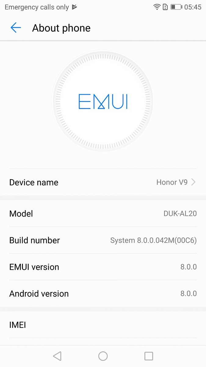 Honor V9 Android 8.0 Beta teszt