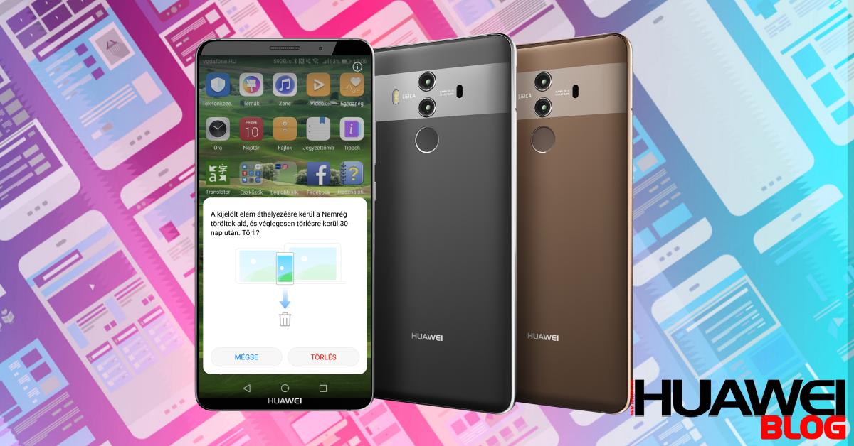 30 napig visszaállíthatók a törölt fotók a Huawei-eken