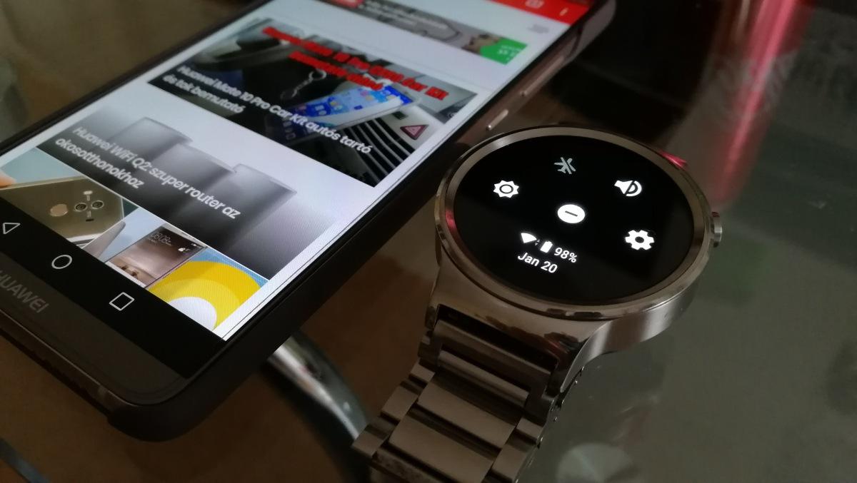 Android Wear 2.8 a Huawei Watch-okra