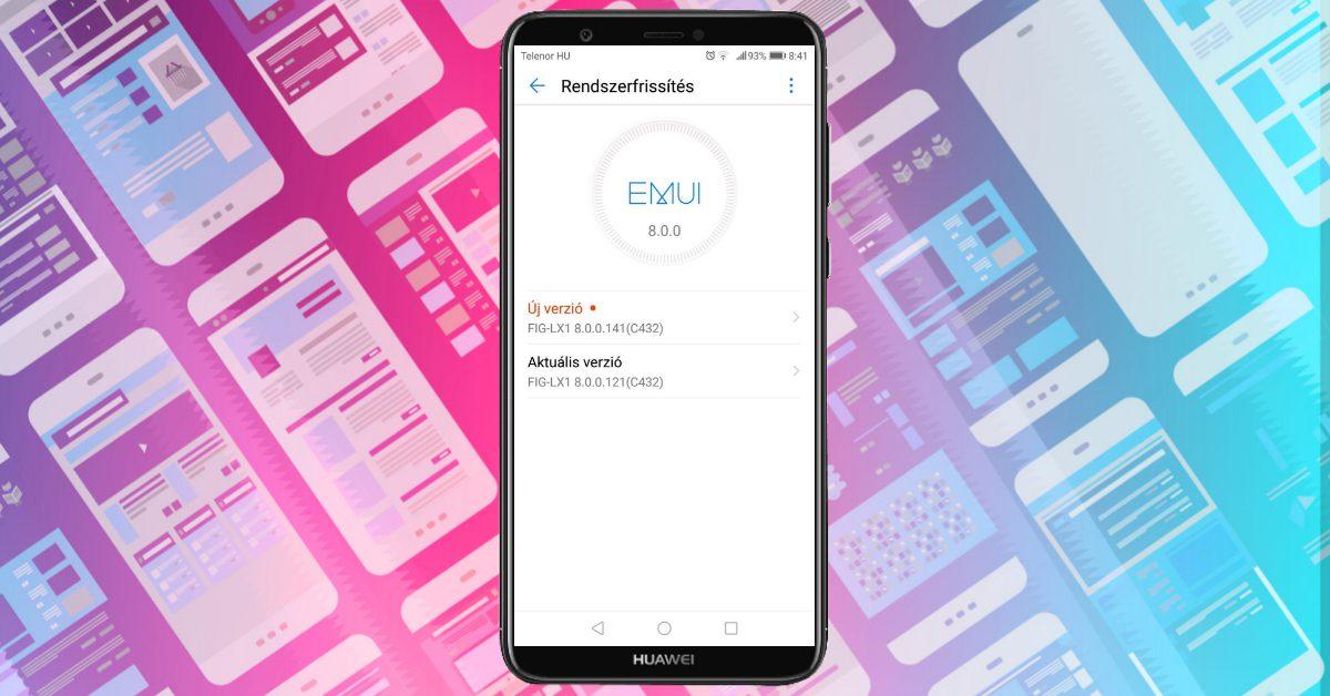 Huawei P Smart 141-es frissítés