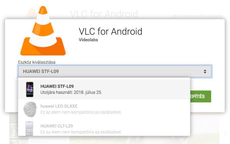 A VLC letiltott több Huawei modellt
