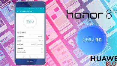 Honor 8 Android 8.0 Oreo frissítés