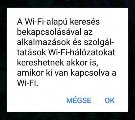 Huawei Wi-Fi-alapú keresés értesítés
