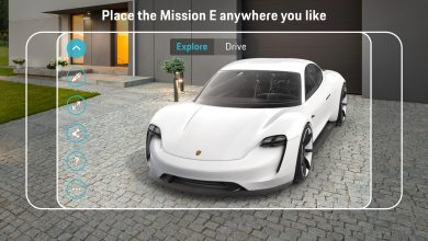 Porsche Mission E ARCore alkalmazás