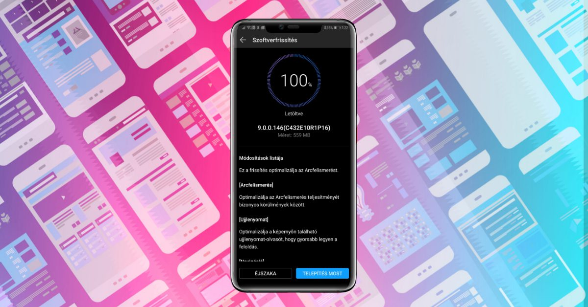 Huawei Mate 20 Pro 146-os frissítés érkezett