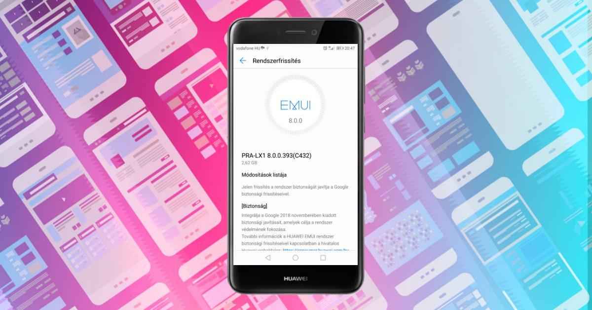 A Huawei P9 Lite 2017-re is megjött a novemberi frissítés