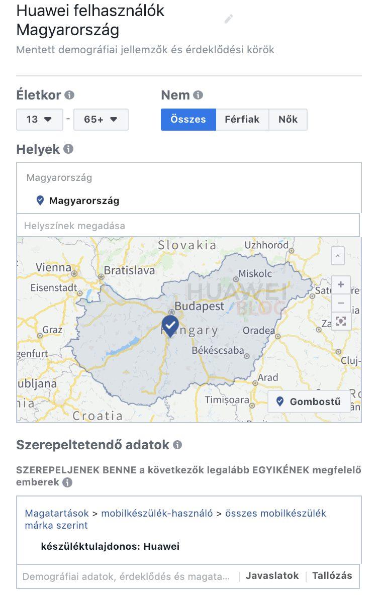 Huawei készülék tulajdonosok a Facebookon