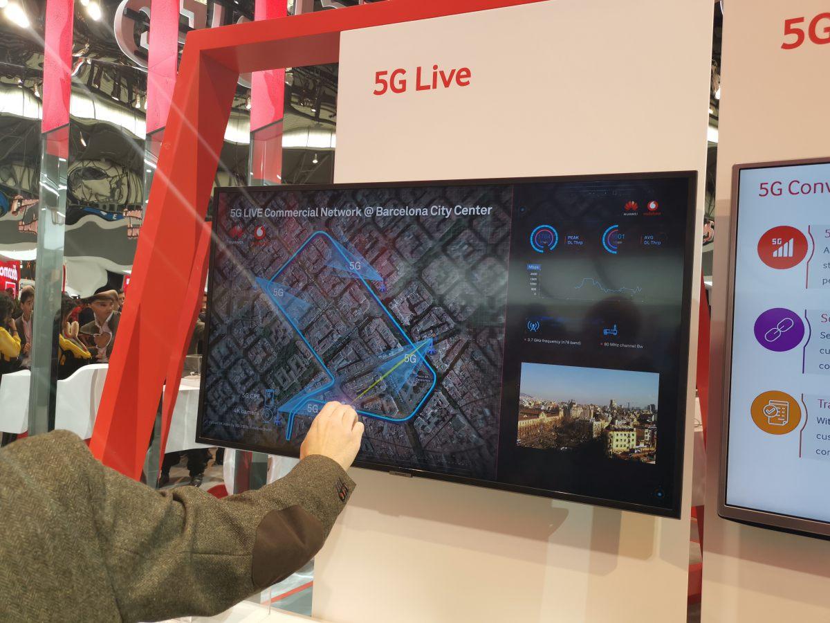 5G-t vitt Barcelonába a Huawei és a Vodafone