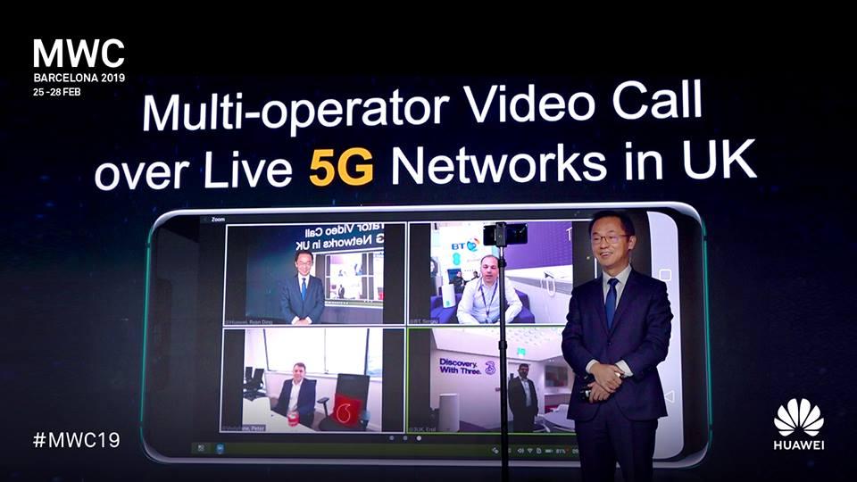 3 brit szolgáltató közösen 5G videótelefonált a Huawei-jel