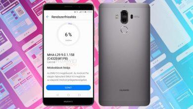 Huawei Mate 9 Android 9.0 és EMUI 9 frissítés