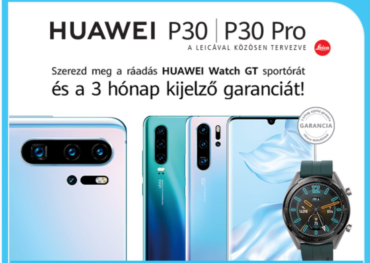 Huawei P30 széria előrendelés