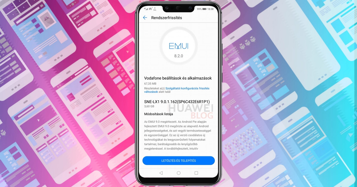 Huawei Mate 20 Lite Android 9 0 és EMUI 9 frissítés