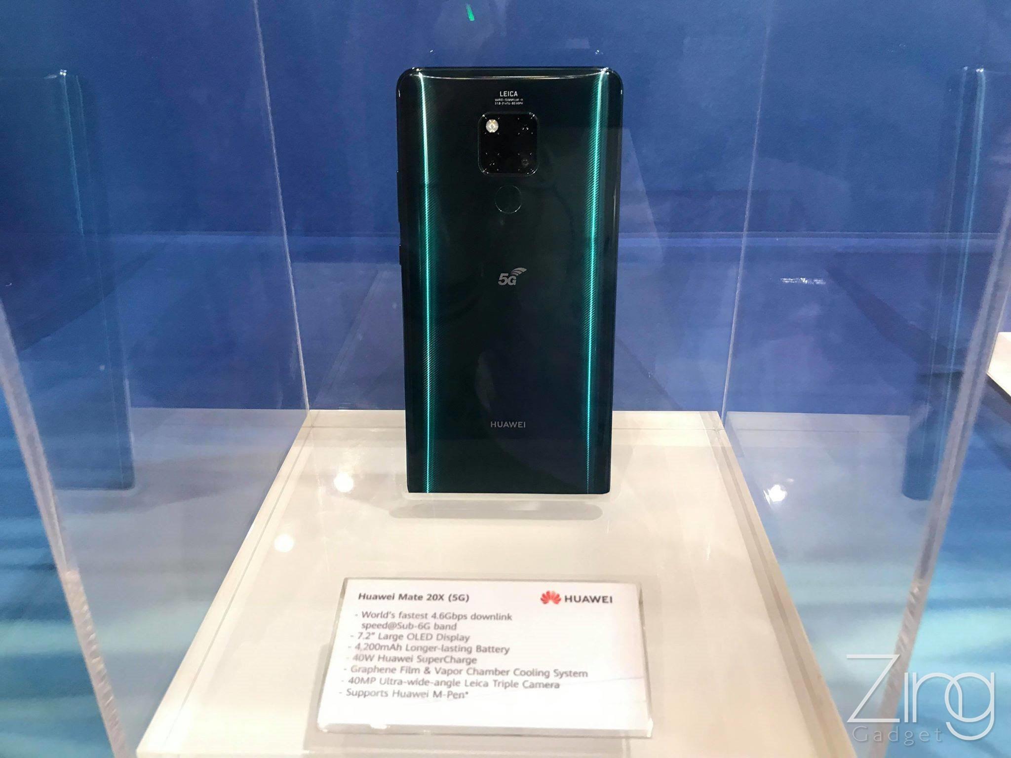 Ilyen élőben a Huawei Mate 20 X 5G okostelefon