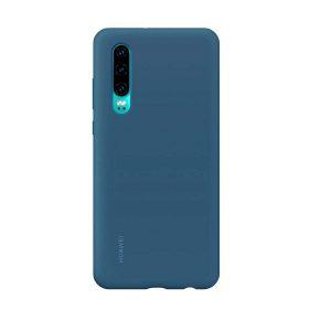 Huawei P30 Silicone Car Case kék tok