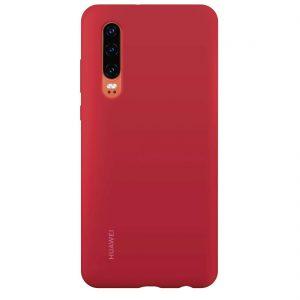 Huawei P30 Silicone Car Case piros tok