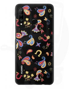 Huawei P30 Lite PC Case Flower Black