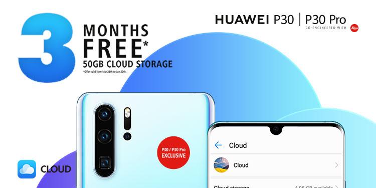 50 GB Mobile Cloud ingyen a Huawen P30 és P30 Pro tulajoknak