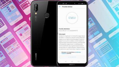 Huawei P20 Lite Android 9.0 és EMUI 9.1 frissítés