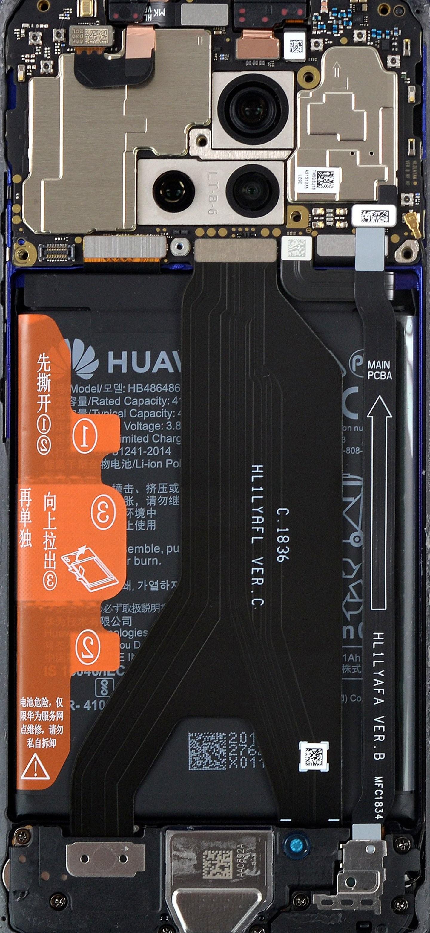 Huawei Mate 20 Pro szétszedve háttérkép