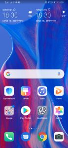 EMUI 9.0 rendszer a Huawei P Smart Z telefonon