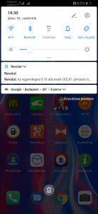 Huawei P Smart Z gyorsindító sáv