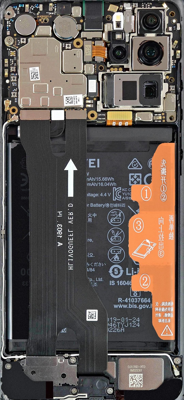 Huawei P30 Pro szétszedve háttérkép
