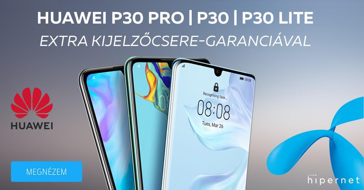 Jelentős Huawei P30 széria áresés a Telenornál