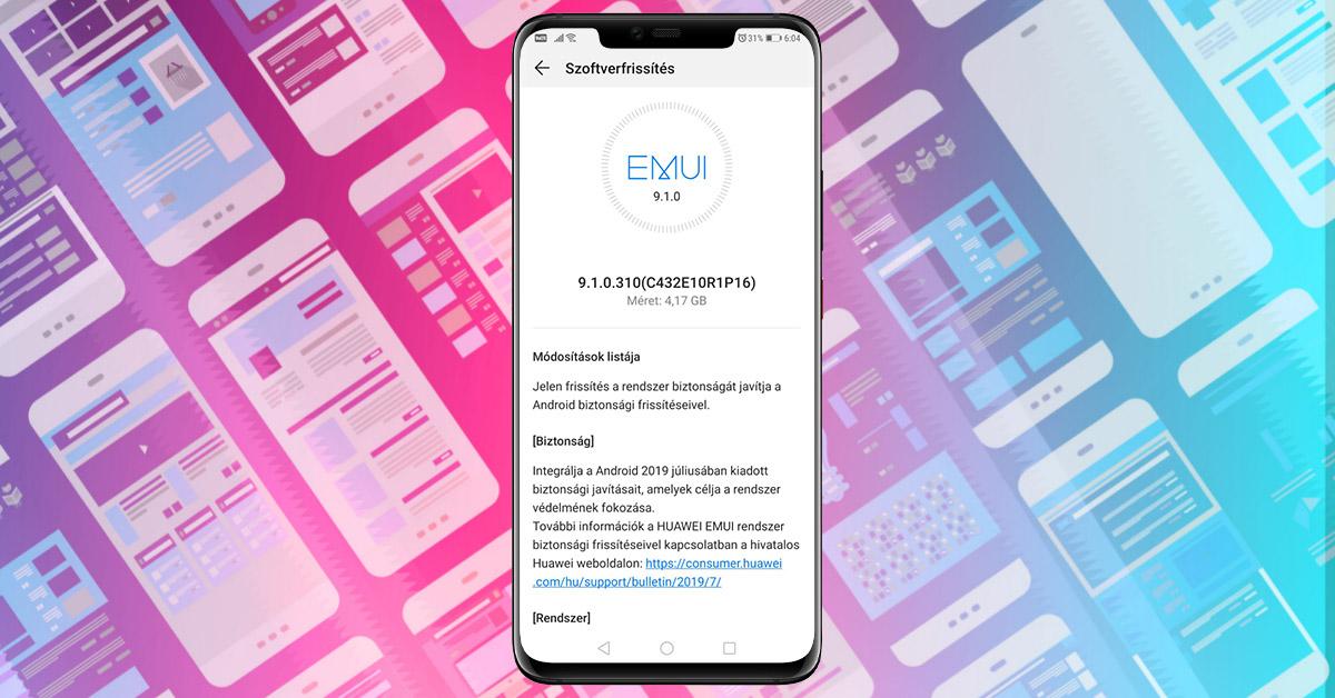 Újabb frissítés a Huawei Mate 20 Pro telefonra