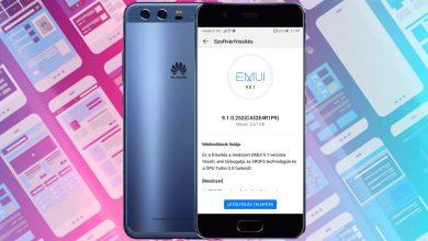 Huawei P10 Plus EMUI 9.1 frissítés