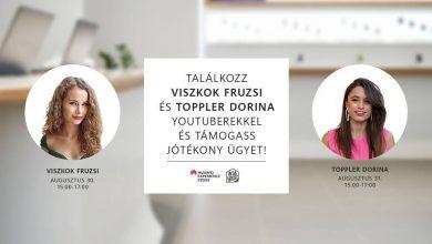 Viszkok Fruzsina és Toppler Dorina a Huawei Experience Store-ban