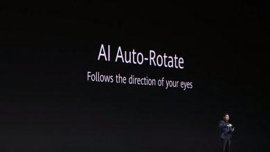 Intelligens képernyőelforgatás a Mate 30 Próban
