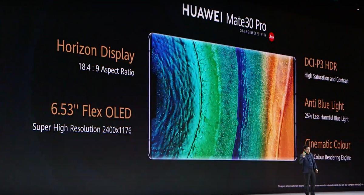 Huawei Mate 30 Pro kijelző