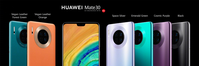 A Huawei Mate 30 színverziói