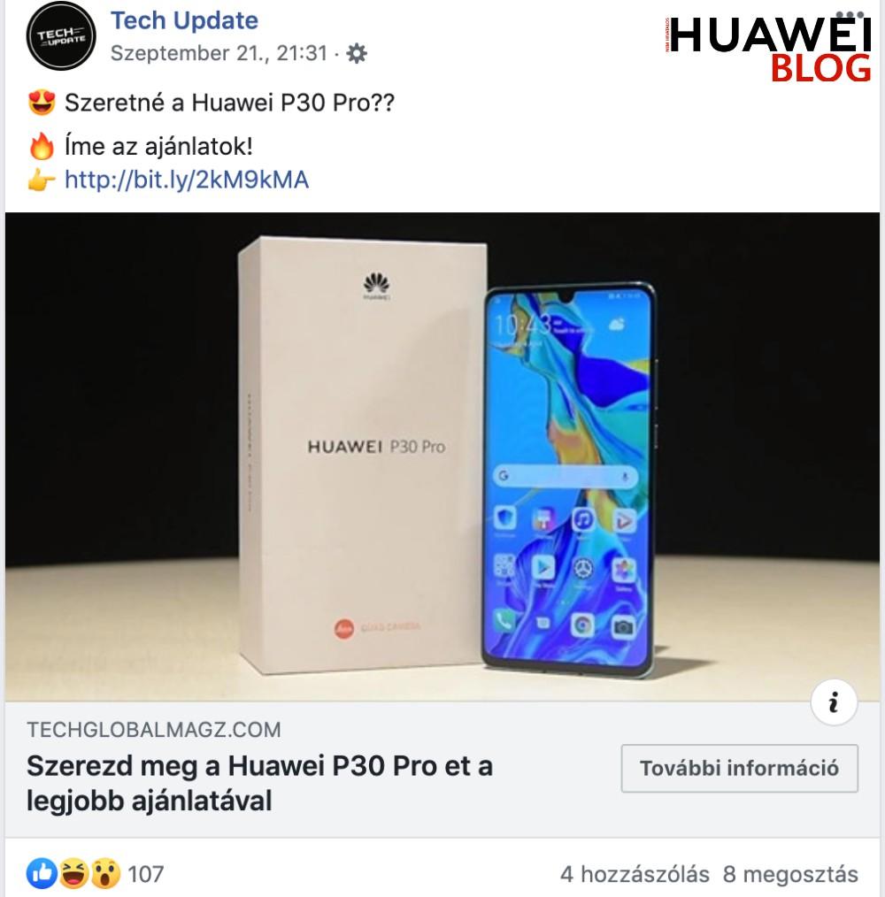Átverés: nincs Huawei P30 Pro 1 dollárért