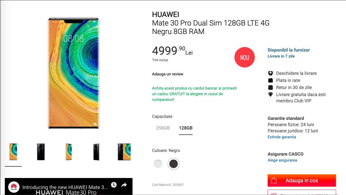Huawei Mate 30 széria Romániában