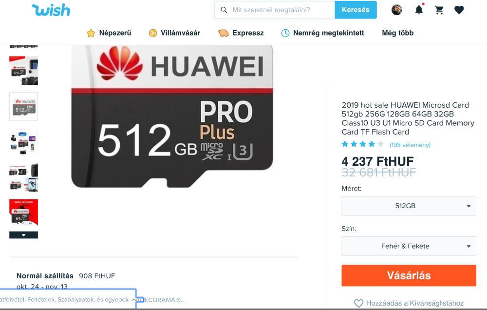 Ne dőlj be az olcsó, de hamis Huawei microSD kártyáknak