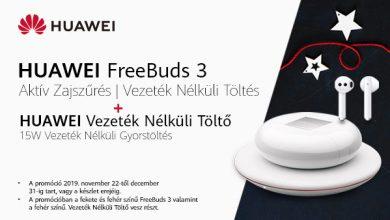 Huawei Freebuds 3 ráadás Huawei CP60 vezeték nélküli töltővel