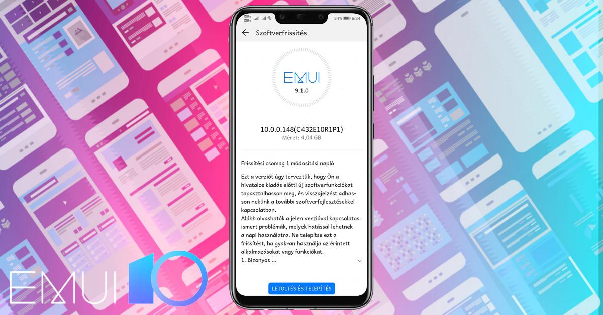 Huawei Mate 20 Lite Android 10 és EMUI 10 frissítés érkezett