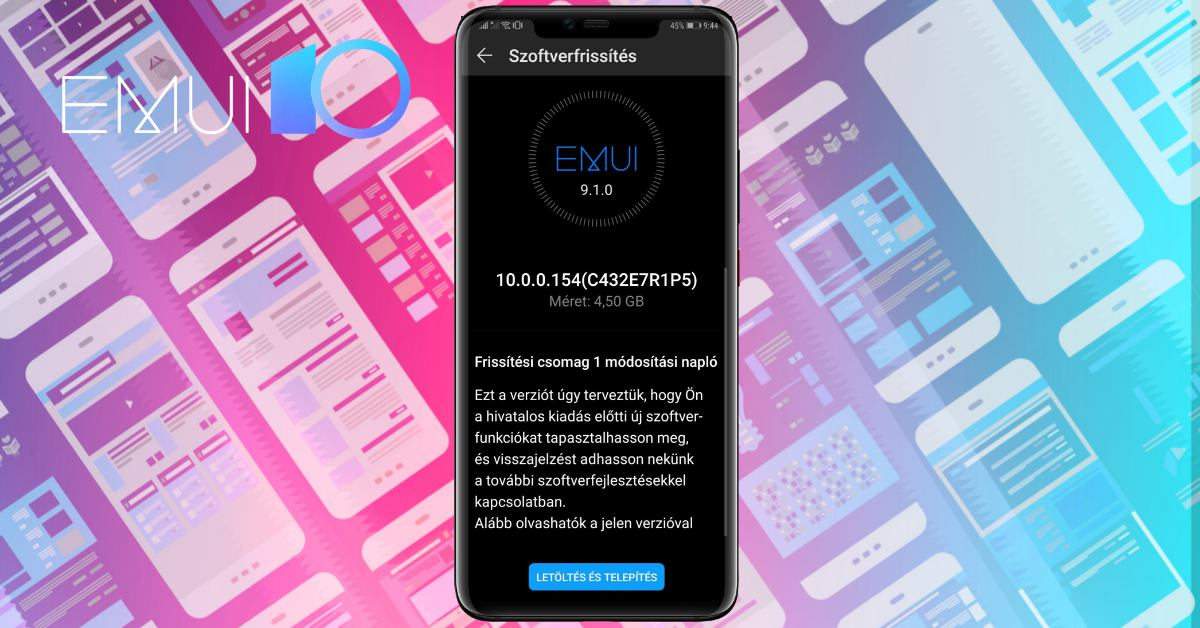 A Huawei Mate 20 Pro is EMUI 10-re és Android 10-re frissült