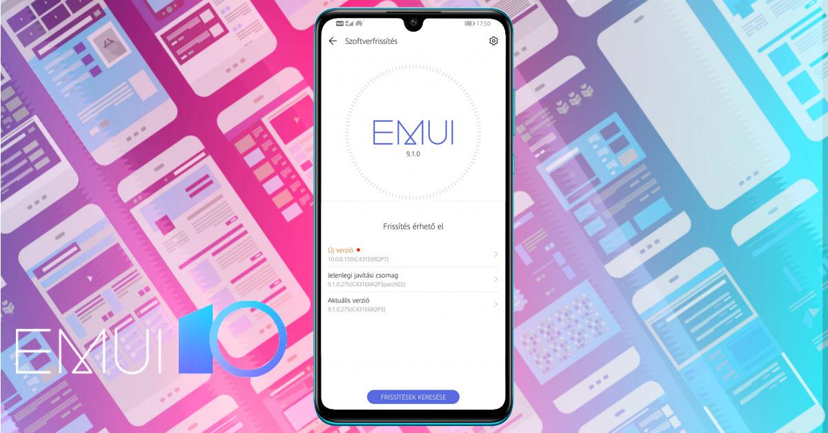 Huawei P30 Lite Android 10 és EMUI 10 frissítéssel