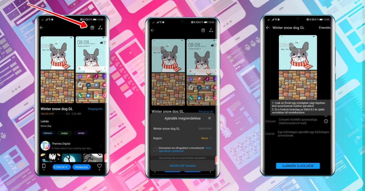 Így ajándékozhatsz Huawei témát szeretteidnek, barátaidnak