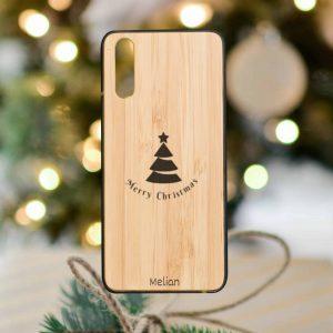 Karácsonyi akció a fa hátlapos Huawei tokokra