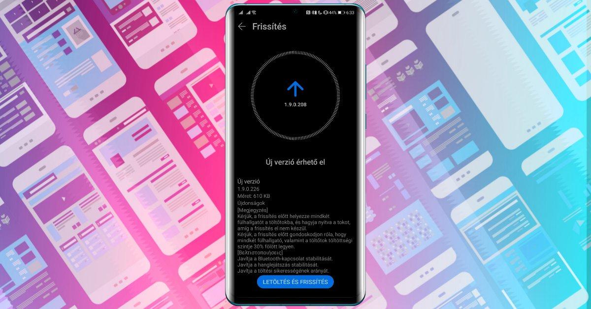 Akkumulátor gondot javít a Freebuds 3 új frissítése