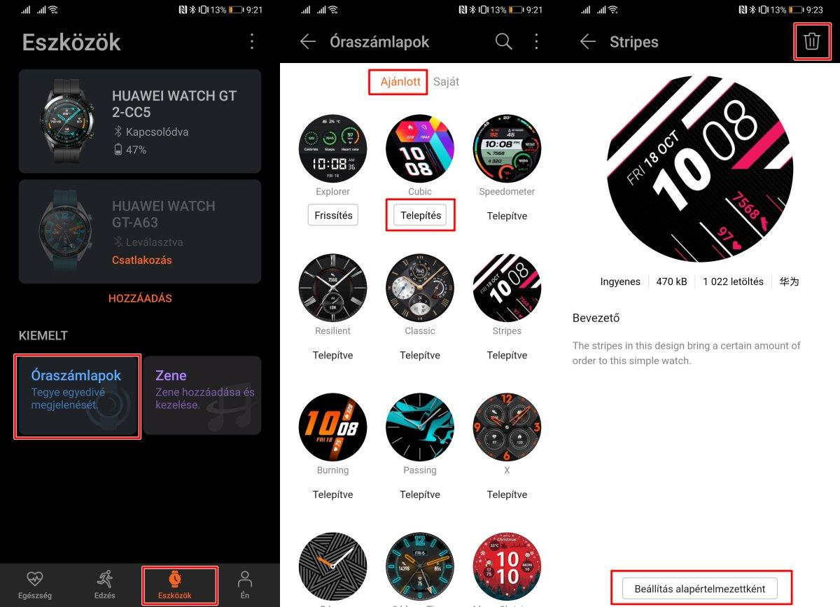 Így állíthatsz be új óraszámlapokat a Huawei Watch GT órákon