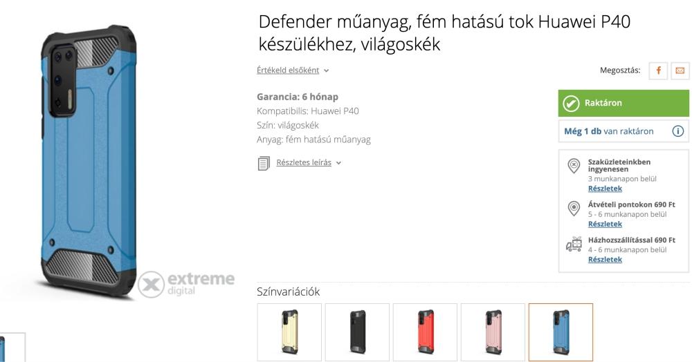 Már Magyarországon is vannak Huawei P40 Pro tokok