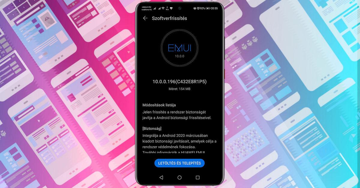 Új Huawei Mate 20 frissítés
