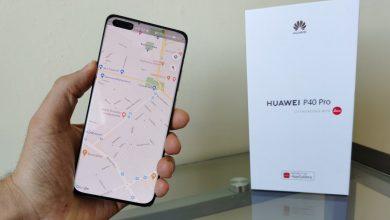 Google Maps a Huawei P40 Prón